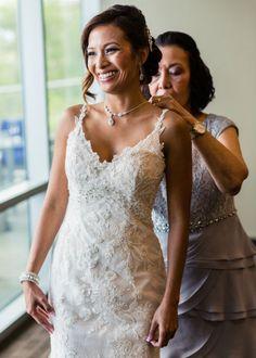Lace and Beaded Wedding Dress | PhotoHouse Films on @myhotelwedding via @aislesociety