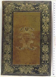 Poliphilo, Hypnerotomachia Poliphili Venice, 1499  This binding is from The British Library - Database of Bookbindings, here are the database details...  Shelfmark - c24c19 Held by - British Library Country - France Period - 16c Cover Material - Calf Colour - Brown Decorative Technique - Tooled in gold Style/Type - Frame, Lettered cover, eg intitals, titles, Mottoes Edges -  Bookbinder -  Ownership Mark - Mahieu, Thomas Author - Poliphilo  Title - Hypnerotomachia Poliphili Place of…