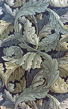 William Morris, acanthus leaf wallpaper. This pattern is quite complicated and busy which I don't really like but I do like the range of colours- especially as this was block printed.