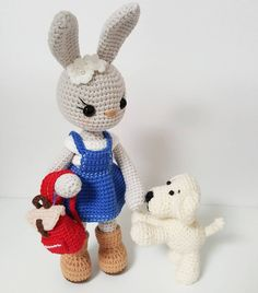 Amigurumi pattern bunny and dog