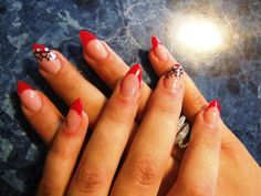 Black lace of sharp nails - Red