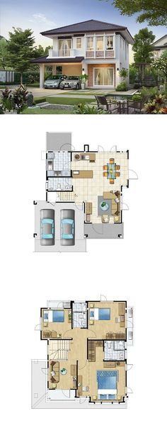 Building A House Plans Layout Pantries Code: 2082296963 Dream House Plans, Modern House Plans, Small House Plans, Modern House Design, House Floor Plans, Dream Home Design, Home Design Plans, Casas The Sims 4, 2 Storey House