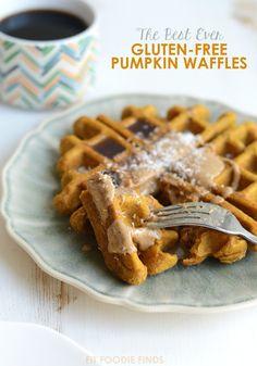 The Best Ever Gluten-Free Ever Pumpkin Waffles #glutenfree #recipe