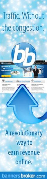 Earning in the internet like the Google - www.bannersbroker.com/tlori    With the Banners Broker System, there's no way you can lose and there's no way you can not make money!!    Just like Google, Banners Broker also takes money from advertisers and and they also place those ads on other people's websites.