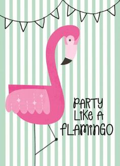 Let's go party like a flamingo! #Hallmark #HallmarkNL #Wenskaart #VersvandePers #Flamingo