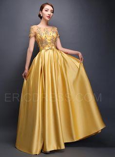 Ericdress Bateau Appliques Short Sleeves Long Mother of the Bride Dress Mother of the Bride Dresses 2015- ericdress.com 11283443