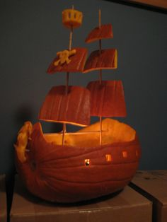 Pirate ship | side view of my pirate ship pumpkin | erindean | Flickr