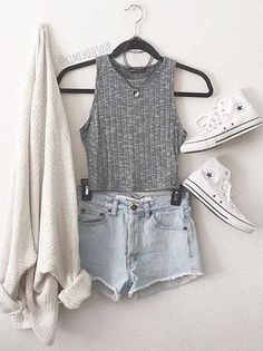 Grey Vest and Shorts via