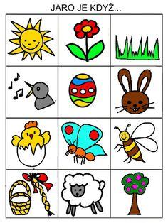 Pro Šíšu: Jarní pexeso Free Preschool, Preschool Activities, Diy For Kids, Crafts For Kids, Pictogram, Paper Toys, Easy Drawings, Kindergarten, Doodles
