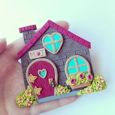 Clay Art Projects, Polymer Clay Projects, Diy Clay, Polymer Clay Magnet, Clay Magnets, Crea Fimo, Clay Wall Art, Clay Fairies, Fairy Crafts
