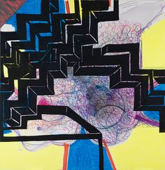 JOANNE GREENBAUM Abstract Drawings, Abstract Art, Mark Bradford, Awesome Paintings, Art Programs, New Art, Art Inspo, Painting & Drawing, Art Pieces