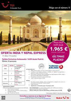 ¡Últimas plazas! Oferta India y Nepal Express. Precio final desde 1.965€ - http://zocotours.com/ultimas-plazas-oferta-india-y-nepal-express-precio-final-desde-1-965e-3/