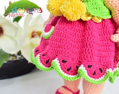 PATTERN   JUST CLOTHES Watermelon Dress crochet by HavvaDesigns