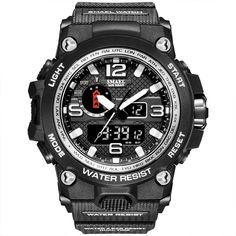 <p> <span> <strong>ArchonTactical Waterproof Watch </strong>was designed to <strong> </strong>be the ultimate combination of toughness and precision. With a moon data trackerand a tide graph, this watch delivers superior functionality in a lightweight, comfortable frame. There is a traditional countdown timer, stopwatch, calendar, and several alarms for day-to-day needs. This model also boasts shock and water resistance for serious adventurer