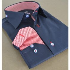 Men Business shirts New Zealand with inside checkered pattern.....AU$89.00 . Very easy to iron . 60% cotton, 40% polyester