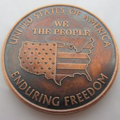 $16.50 We The People 1 oz .999 Pure Copper Challenge Coin (Presston Mint) (Black Patina)