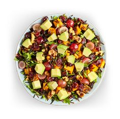 Avocado Salad Center I Avocados From Mexico Avocado Salad Recipes, Easy Salad Recipes, Easy Salads, Avocados From Mexico, Homemade Honey Mustard, Wild Rice Salad, Party Food Platters, Tasty Dishes, Food Print