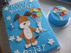 Kipper the Dog 1st Birthday Cake with Matching Smash Cake!