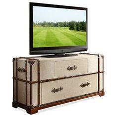 Riverside Furniture Bon Voyage Steamer Trunk TV Console - 22641