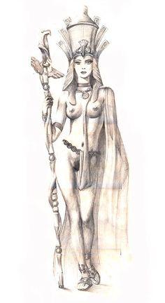 Cleopatra Pencil Drawing, Alexander Beim