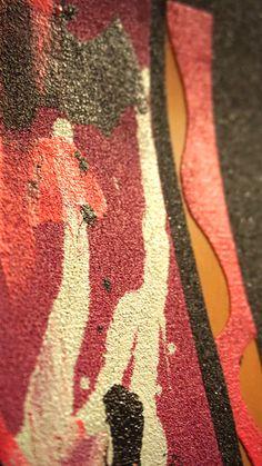 Splatters on grip tape. Follow #gripptide #design #skateboard #griptape #art #skateboardart