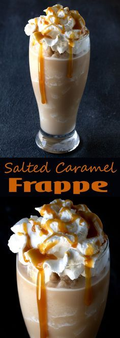 Homemade Salted Caramel Frappes are an easy, cold, refreshing treatready in just 5 minutes. Save your dollars and make it yourself at home!