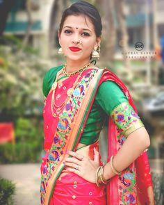 Marathi Bride, Indian Girl Bikini, Indian Girls Images, Bride Portrait, Tamil Actress Photos, Beautiful Indian Actress, Indian Actresses, Desi, Sarees