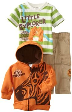 Nannette Little Boys 2 Pieced Rhino Jersey Short Set