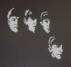 Beatles Counted Cross Stitch Designs ~ how cool is this?!