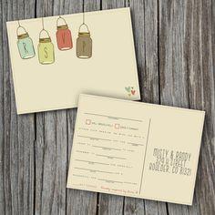 Madlib RSVP Post Card  Printable Custom DIY  by SplashOfSilver, $30.00