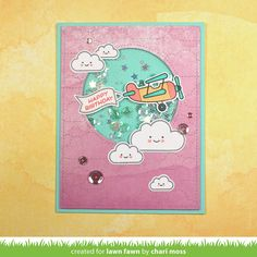 the Lawn Fawn blog: Lawn Fawn Intro: Plane and Simple & Stitched Trails Card by Chari Moss.