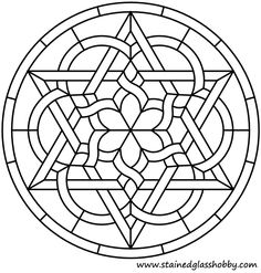 Ideas For Embroidery Patterns Mandala Stained Glass Celtic Stained Glass, Stained Glass Designs, Stained Glass Projects, Stained Glass Patterns, Mosaic Patterns, Stained Glass Art, Embroidery Patterns, Art Patterns, Mandala Coloring