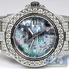 5e9a3c3617c Breitling Super Ocean Custom Made 22.00 ct Diamond Iced Out Band Mens Watch  Diamond Ice