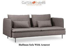 Huffman #Sofa with Armrest French Brown at #CurtisandHayes.