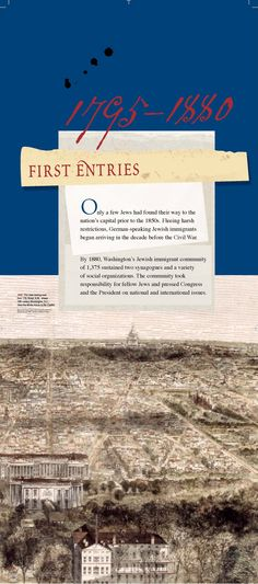 Section intro panel: 1795 - 1880 First Entries (click through to online exhibition)