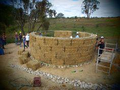 Strawbale Roundhouse build: foundation and walls | Milkwood