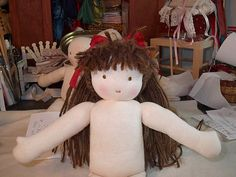 Making doll hair.