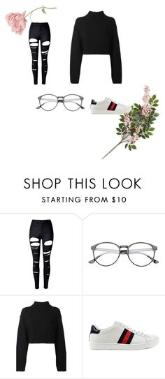 """Hipster"" by explorer-14743076013 ❤ liked on Polyvore featuring WithChic, DKNY and Gucci"