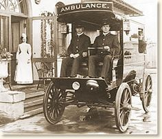 The ambulance that responded to the call after William McKinley was shot at the Pan-American Exposition in Buffalo, NY in September 1901.  In keeping with the theme of the Exposition, it was electrically powered.