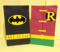 Batman and Robin inspired birthday party/treat bags on Etsy, $18.00
