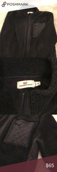 807fc38c7a Nice Vineyard vines black fleece jacket medium Nice pre-owned vineyard  vines black fleece jacket