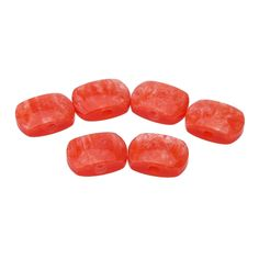 Oblong Acrylic Pearloid Buttons Machine Tuner Knobs Guitar Parts for Guitar Tuning Pegs Orange Red (6pcs)