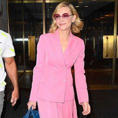 Akris® Official – #AkrisVIP - Celebrities wearing Akris Cate Blanchett, Pink Trousers, Wide Leg Trousers, Melbourne, Pink Wardrobe, Robert Downey Jr., Old Hollywood Actresses, Black Tuxedo, 50 Years Old