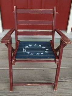 25 Incredible Patriotic Furniture Makeovers Celebrating The Red White & Blue!