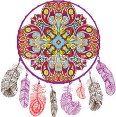 ; Dream Catcher Mandala, Dream Catchers, Digital Ink, Gypsy Life, Bohemian Gypsy, Pixel Art, Beach Mat, Outdoor Blanket, Crafts