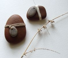 paint a rock - use a clay tag with hole to wrap?