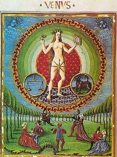 tagaoth:    Venus, ruler of Libra and Taurus from De Sphaera ~15th century
