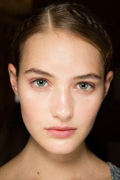 Fresh face beauty at Stella McCartney S/S 2015 #makeup