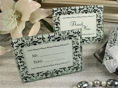 weddingfavordiscount.com damask design glass place card frames