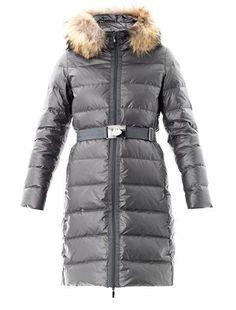 Moncler Nantes fur trim down coat on shopstyle.com